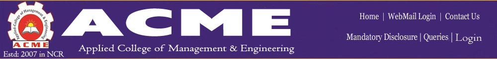 Applied College Of Management And Engineering
